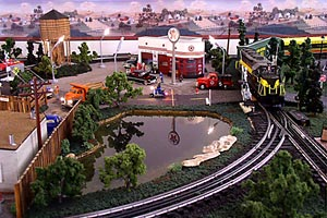 Home train set layout