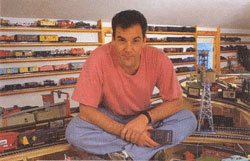 Mandy Patinkin with his model toy trains