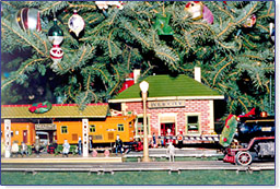 Holiday model toy trains
