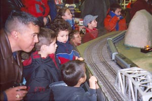 Kids (of all ages) love the trains in action at a LCCA-sponsored train show in Naperville, IL.